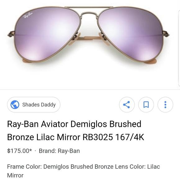 fb7f303cf Ray-Ban Accessories | Rayban Purple Mirror Aviator Sunglasses | Poshmark